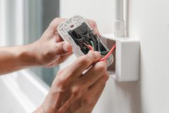 Home electrical system stock photos