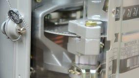Home electricity watt hour meter stock video footage