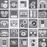 Home Electronic Greyscale Icons Royalty Free Stock Photography