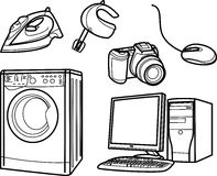 Home Electronic Objects Stock Image