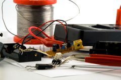Home electronic project Royalty Free Stock Images