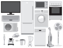 Home electronics. Set on white Royalty Free Stock Image
