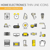 Home Electronics Appliances Thin Line Icons Set Royalty Free Stock Images