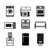 Home electronics and equipment icons Royalty Free Stock Photos