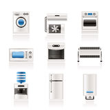 Home electronics and equipment icons Stock Photography