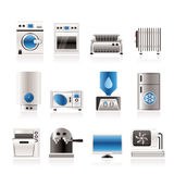 Home electronics and equipment icons Stock Image