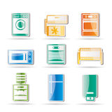 Home electronics and equipment icons Stock Photo
