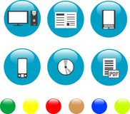 Home electronics and equipment icons Stock Images