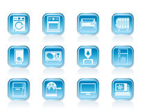Home electronics and equipment icons Royalty Free Stock Photo