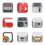 Home electronics glossy app icon vector set Stock Photography