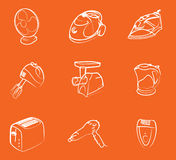 Home electronics icons Royalty Free Stock Images