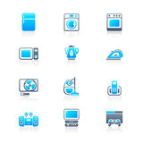 Home electronics icons | MARINE series Stock Photos