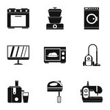 Home electronics icons set, simple style. Home electronics icons set. Simple illustration of 9 home electronics icons for web vector illustration