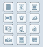 Home electronics icons | TECH series Royalty Free Stock Photography