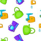 Home electronics pattern, cartoon style Stock Images