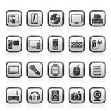 Home electronics and personal multimedia devices icons Royalty Free Stock Images