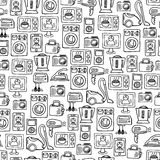 Home electronics sketch vector seamless pattern. Royalty Free Stock Image