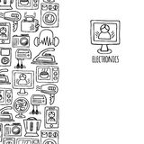 Home electronics sketch vector vertical  banner. Stock Photo