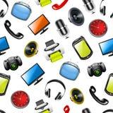 Home elektronik, seamless modell Fotografering för Bildbyråer