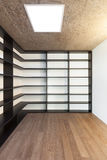 Home, empty room with bookcase Royalty Free Stock Image
