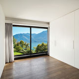 Home, empty room with wardrobes Royalty Free Stock Photo