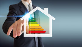 Home energetics - business man Royalty Free Stock Images