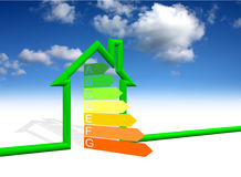Home energy efficiency stock photo