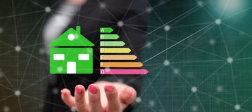 Concept of home energy efficiency stock illustration