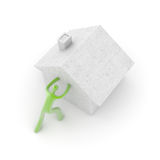 Home and energy efficiency concepts stock image