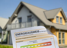 Home and Energy Performance Certificate Stock Photos