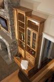 home enorm herrgård för bokhylla Arkivbild