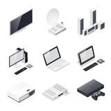 Home entertainment devices isometric icon Royalty Free Stock Images