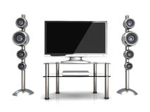 Home Entertainment System. 3D rendered Illustration. Home Entertainment System Stock Image