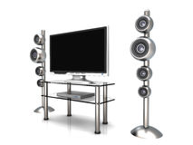 Home Entertainment System Royalty Free Stock Photography