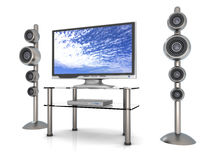 Home Entertainment System. 3D rendered Illustration. Home Entertainment System Royalty Free Stock Images