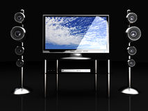 Home Entertainment System Stock Image