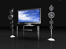 Home Entertainment System Stock Photography