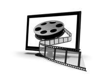 Home entertainment VOD ilustração royalty free
