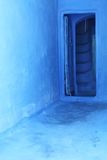 Home entrance – Moroccan style. Typical blue colors Stock Image