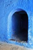 Home entrance – Moroccan style. Typical blue colors Royalty Free Stock Image
