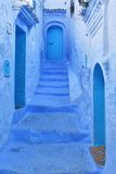 Home entrance – Moroccan style. Typical blue colors Royalty Free Stock Images