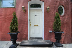 Home Entrance. Exterior entrance of a red brick home Royalty Free Stock Image