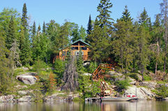 A Home on the Entrance into Boundary Waters Canoe Area Stock Photography