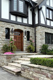 Home entrance with flagstone steps Stock Photos