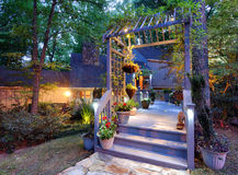 Home Entrance in the Woods Royalty Free Stock Photography