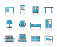 Home Equipment and Furniture icons Stock Photography