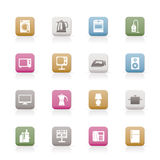 Home equipment icons Stock Photo