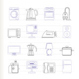 Home equipment icons Royalty Free Stock Photography