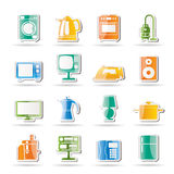 Home equipment icons Royalty Free Stock Image