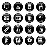 Home equipment icons Stock Photography